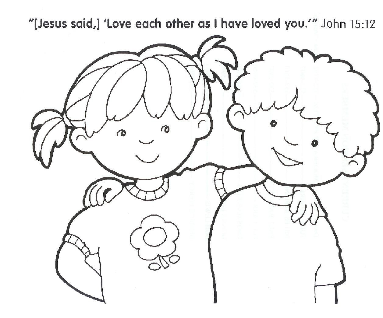 Printable Christian Coloring Pages For Kids