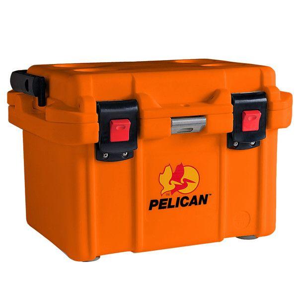 New Pelican 20-Quart Elite Cooler Tan//Orange Ice Chest