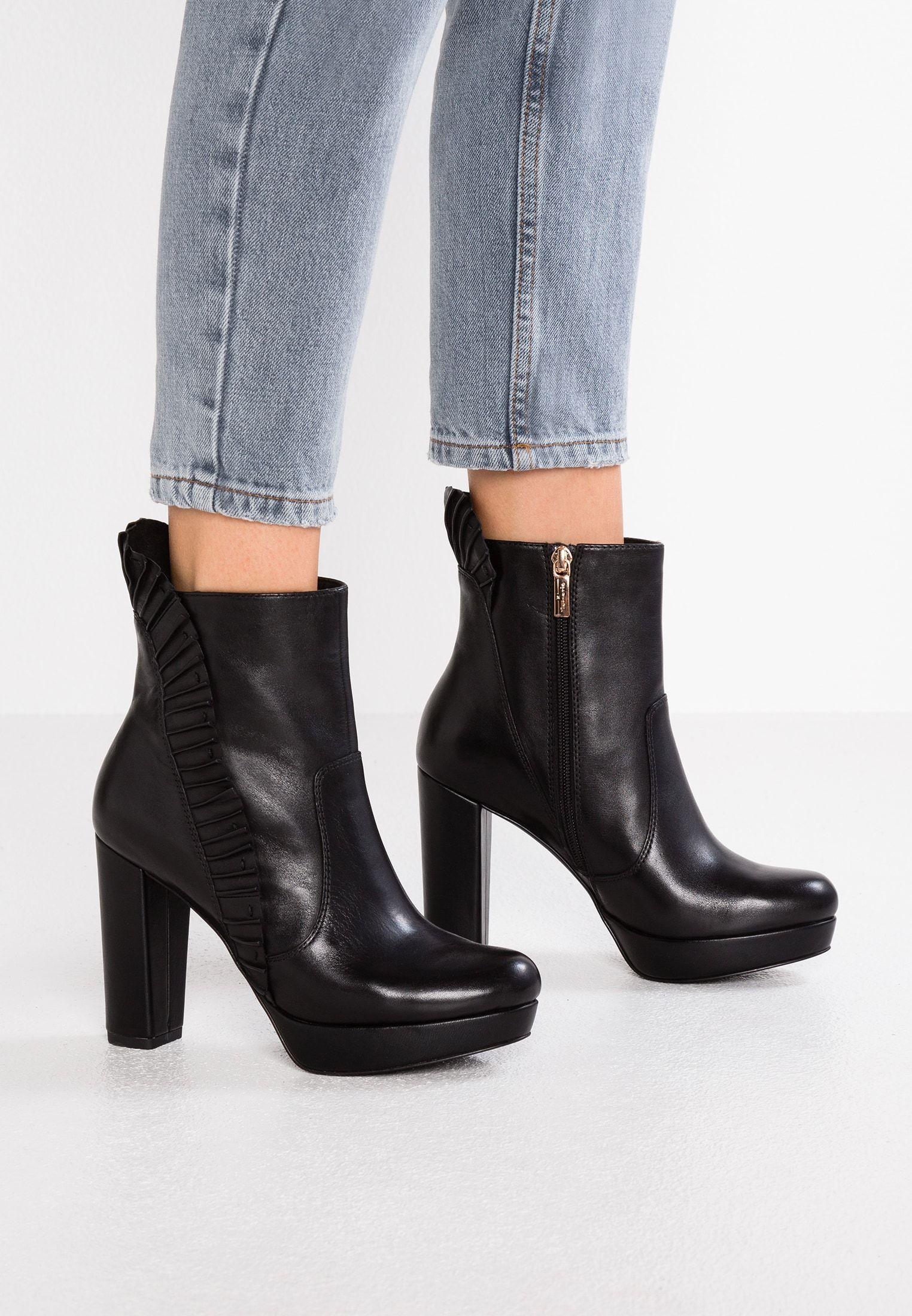 High Heel Stiefelette black @ | Stiefeletten