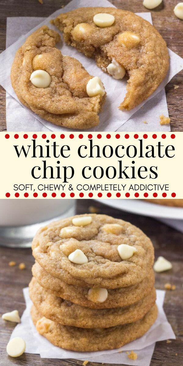 White Chocolate Chip Cookies #chocolatechipcookies