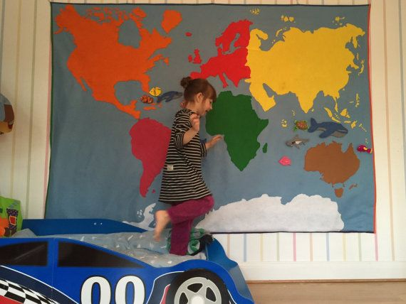 Carte du monde Montessori