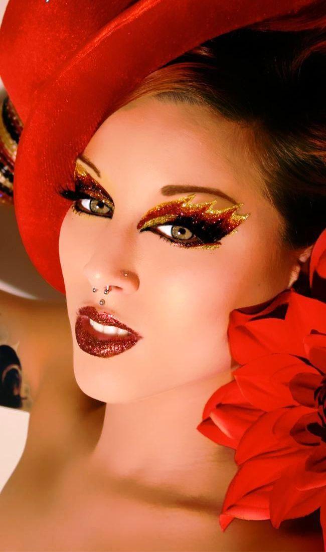 20 devil halloween makeup ideas for women - Devil Halloween Makeup Ideas