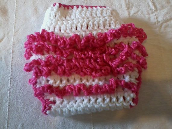 READY TO SHIP Crocheted Baby girl diaper cover by hatsbykree, $8.00