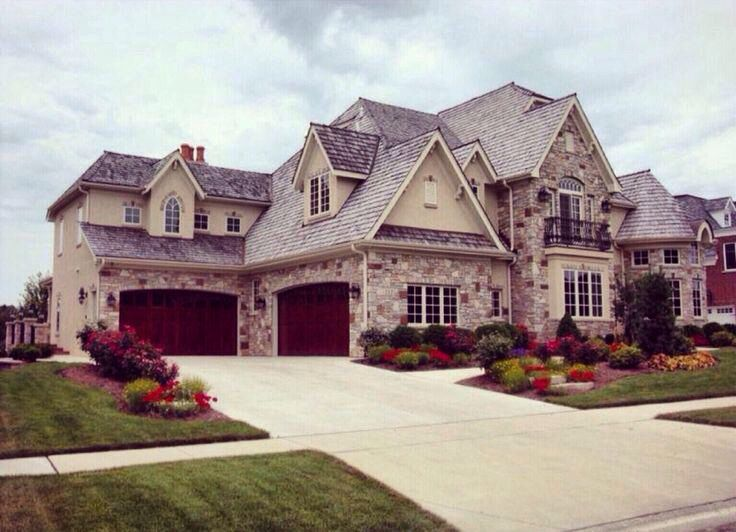 4 Car Garage Big Beautiful Houses Dream Home Design House Exterior