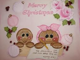 hand painted gingerbread faces - Google Search