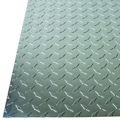 M D Building Products 36 In X 36 In X 0 025 In Diamond Tread Aluminum Sheet In Silver 57307 The Home Depot Decorative Metal Sheets M D Building Products Aluminium Sheet