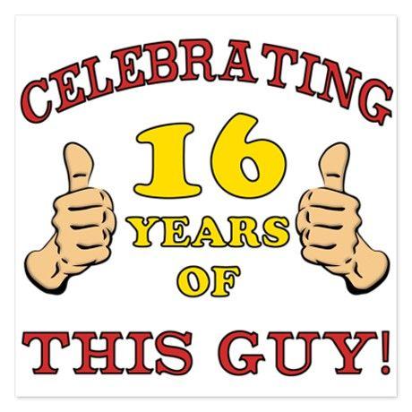 Funny 16th Birthday For Boys 525 X 525 Flat Card 16th Birthday