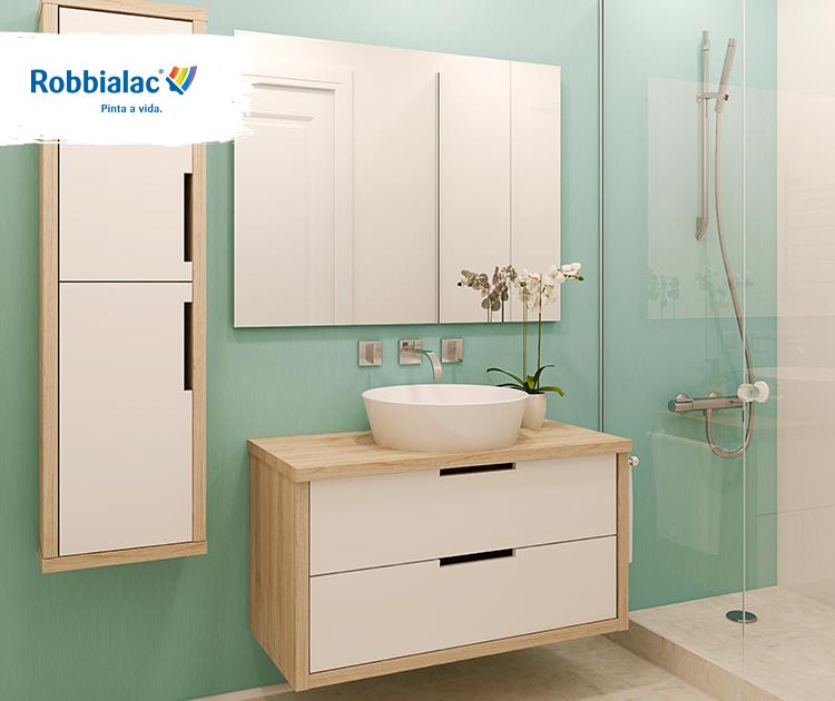 Já pensou em mudar a cor da sua casa de banho? #cor #harmonia #decoração #casadebanho #inspiração