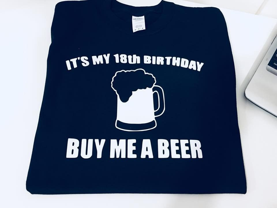 4ca181bb9 Its my 18 birthday buy me a beer cool funny t-shirt birthday t-shirt 18th  birthday gift present idea birthday top tee shirt by funkytshirtsfactory on  Etsy