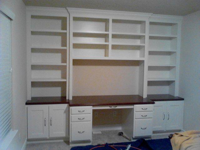 Built In Office Cabinets With Desk
