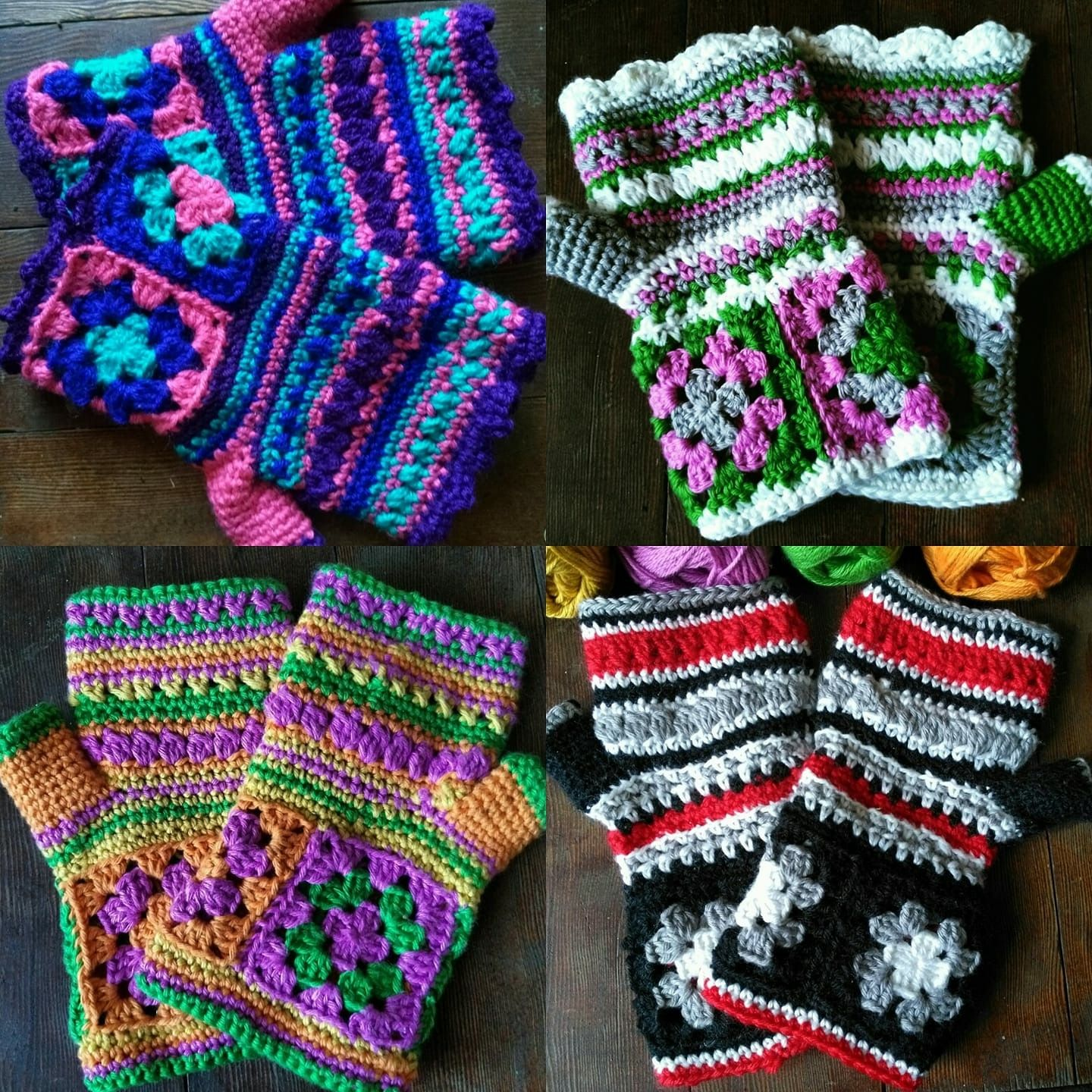 Knitted wedding decorations  Granny square gloves  Crochet  Pinterest  Granny squares Crochet