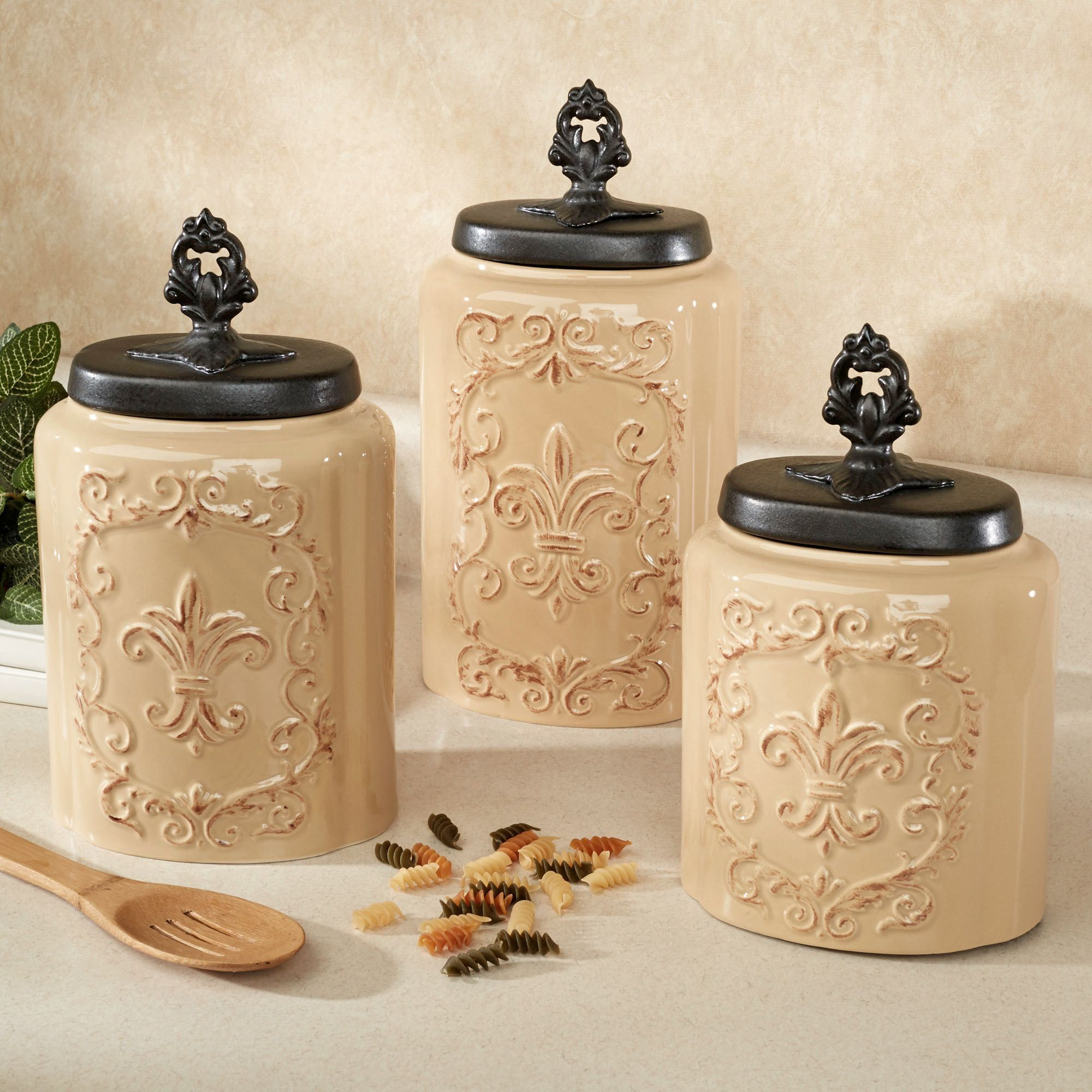 stunning ideas pin decor farmhouse shabby flair white country chic and kitchen canisters french with a canister sets