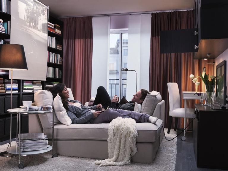 Ikea-Katalog 2012 - Ideen für kleine Wohnungen Kombiraum zum Wohnen