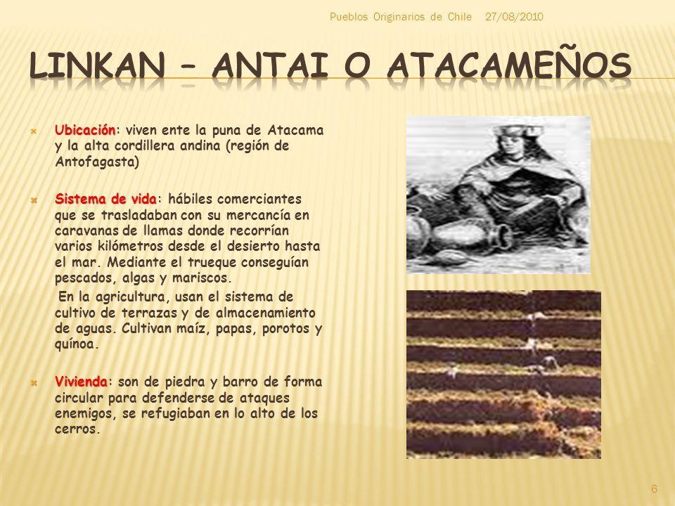 Llamados Linkan Antai O Atacamenos Atacamenos Cordillera Andina Indigenas