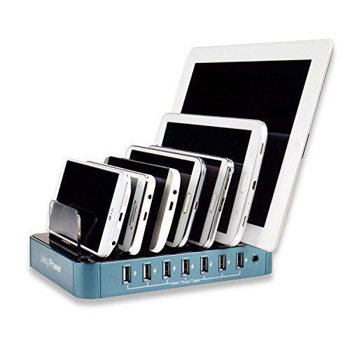 Juicy Power 7-Port Desktop USB Charging Station, http://www.amazon.com/dp/B00SH3JVQ6/ref=cm_sw_r_pi_awdm_J.9qwb1P3A7JB