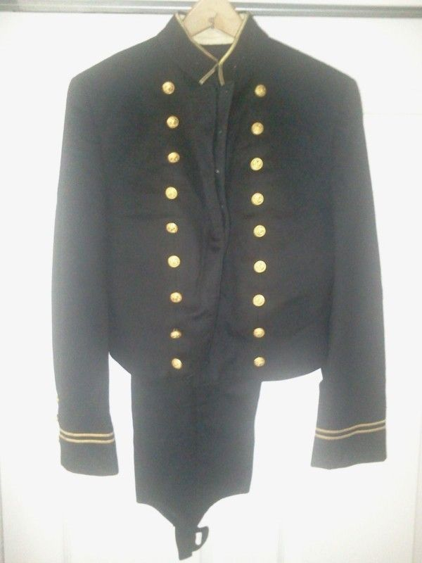 U S Naval Academy Formal Dress Uniform Consisting Of Short Coat
