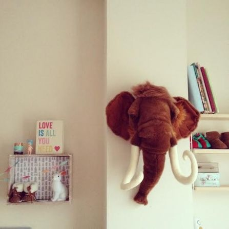 Cabeza peluche mamut las taxidermias eco son lo ltimo en - Lo ultimo en decoracion ...