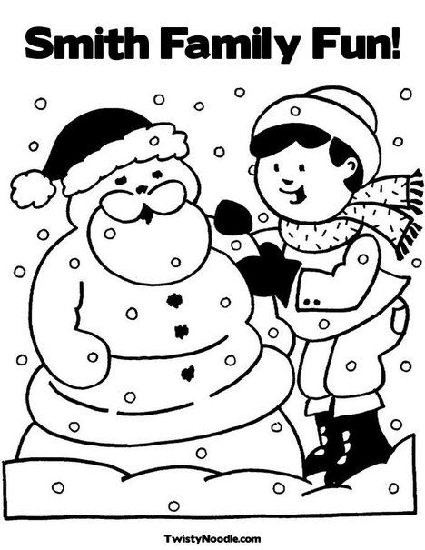merry ChristmasPersonalize coloring pages for your kids - new snow coloring pages preschool