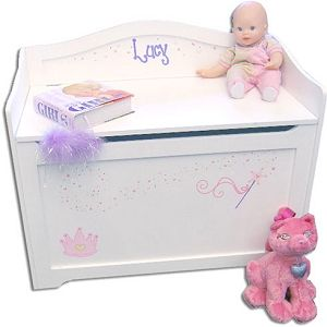 Personalized white toy box bench home pinterest white toy personalized white toy box bench negle Images