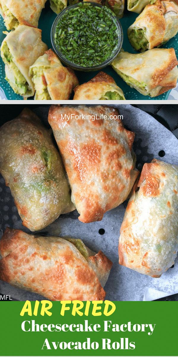 Healthier Recipe for Cheesecake Factory's Avocado Egg Rolls (Air Fryer Method) #airfryerrecipes