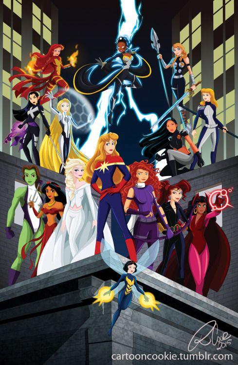 Quand les personnages disney rencontrent l 39 univers marvel dessin anim e pinterest - Dessin anime cendrillon disney ...