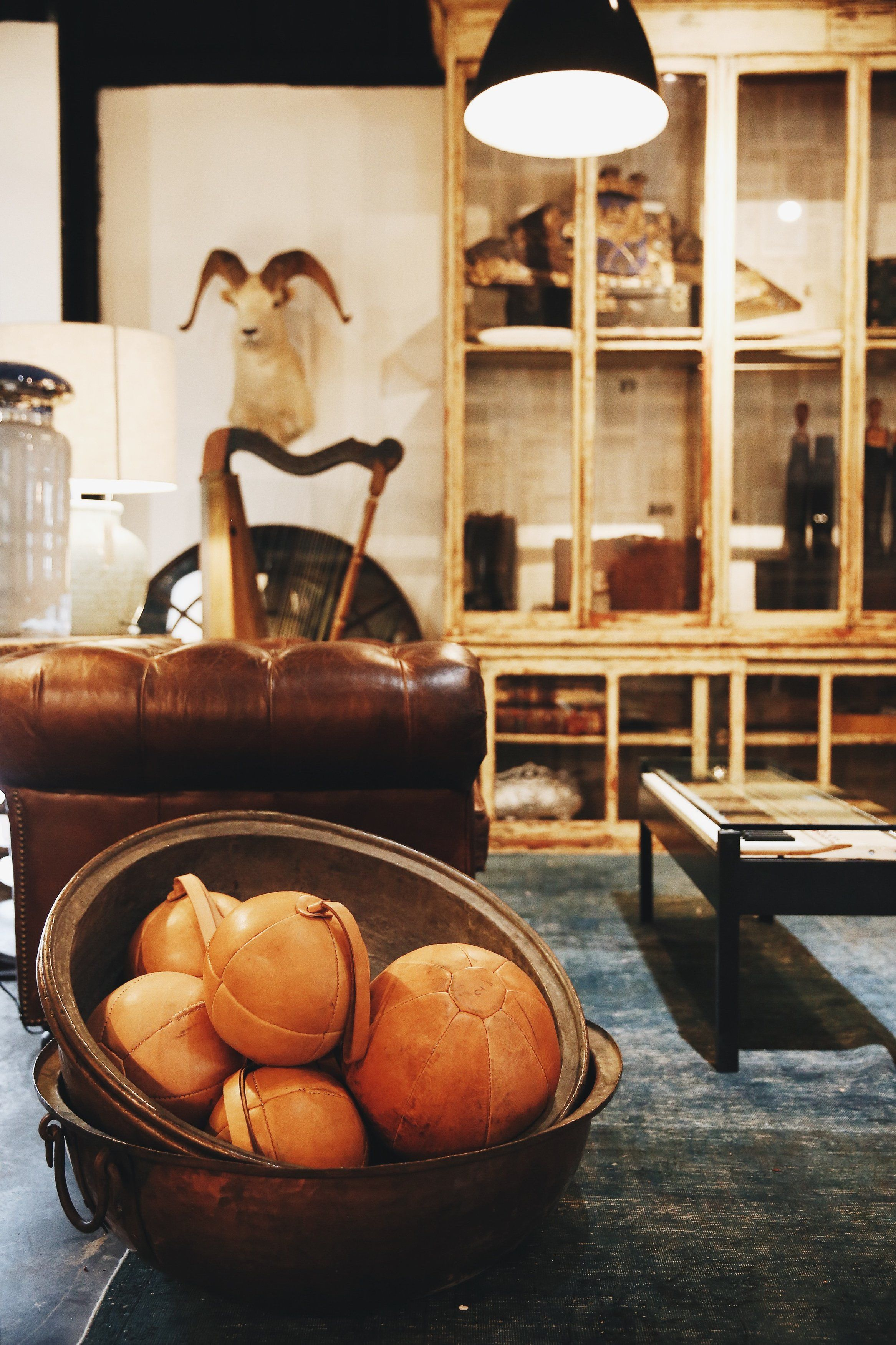 Lovely vintage leather and eclectic antiques in our Houston store ...