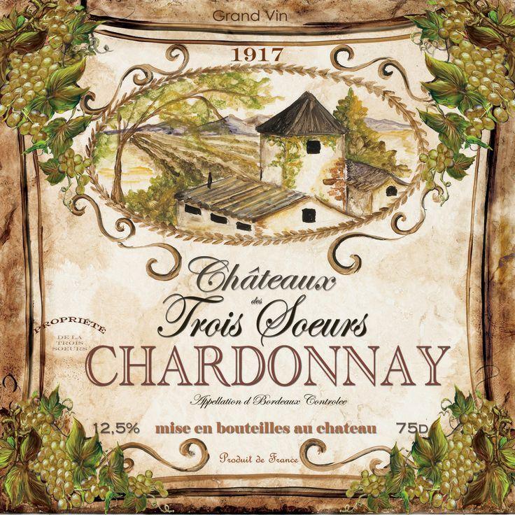 Vintage Printable Chardonnay Vintage Wine Label Wine Art Vintage Wine