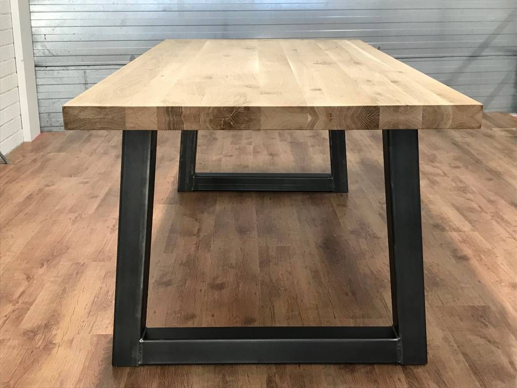 Industriele Tafel Eettafel.Eettafel Eiken Industrieel Industriele Tafel Beste Kwaliteit