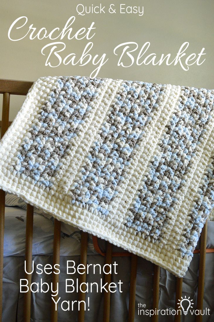 Quick & Easy Crochet Baby Blanket | Blanket yarn, Crochet baby ...