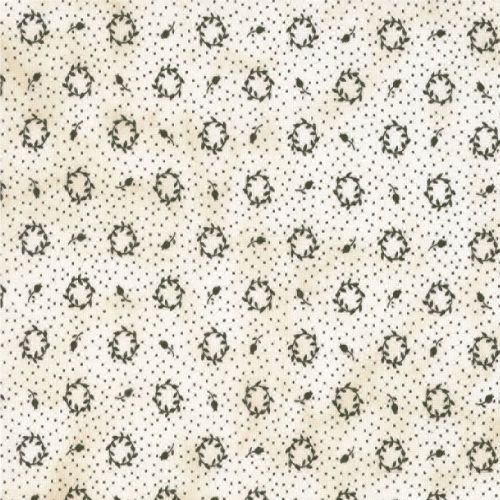 Little Gatherings Cream w/ Black Floral and Dot Primitive Gatherings Fabric BTY #RJRFabrics