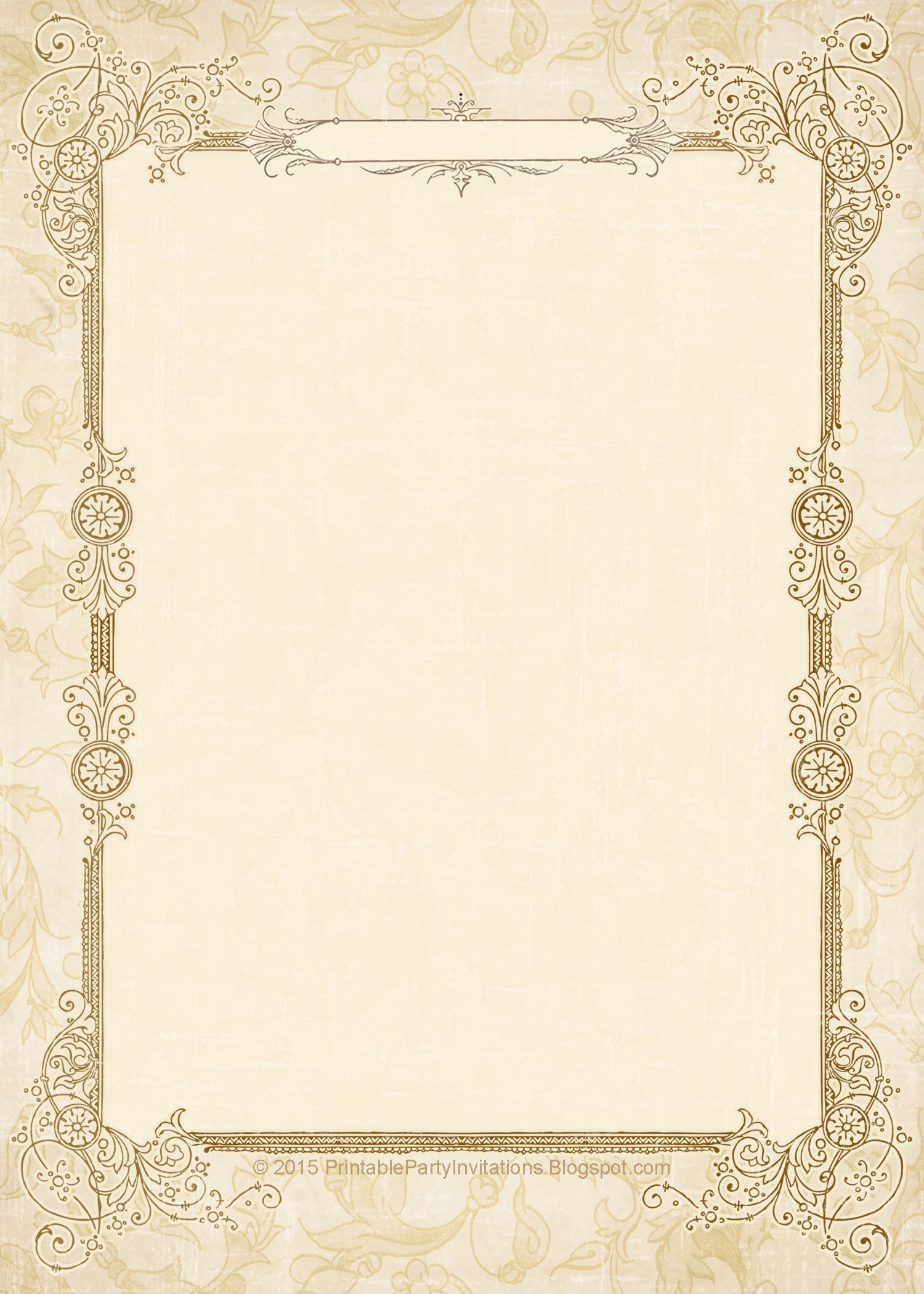 FREE Printable Vintage Wedding Invitations  Vintage wedding