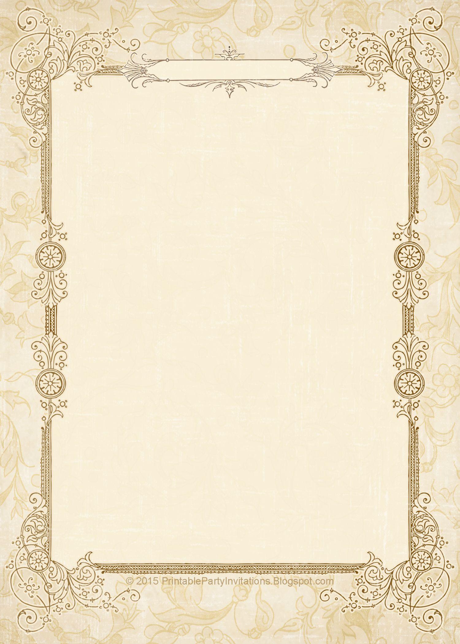 Free Printable Vintage Wedding Invitations Vintage Wedding Invitations Templates Wedding Templates Printable Free Printable Wedding Invitations