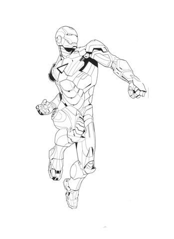 Tony is Iron Man coloring page from Iron Man category. Select from ...