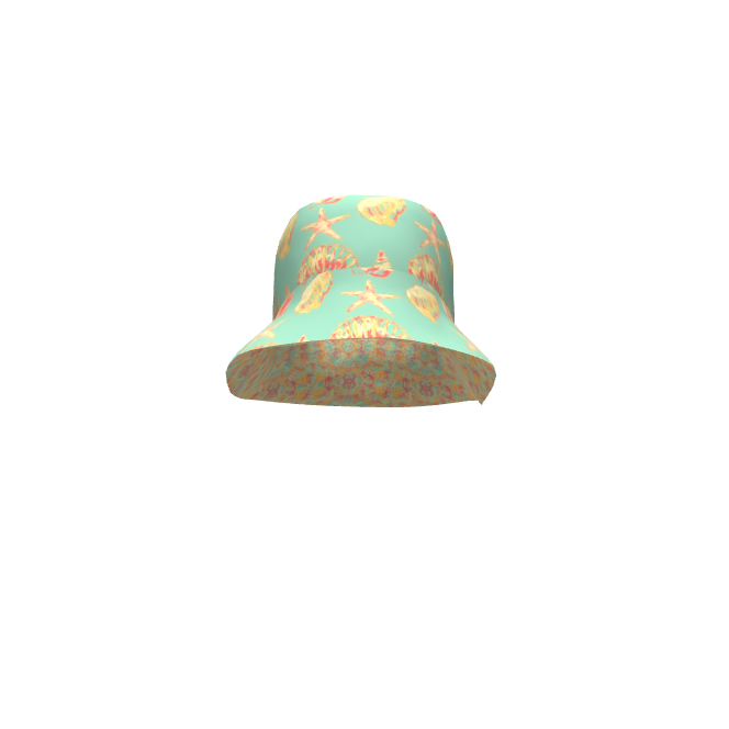 e41212b8a64 Betz White Reversible Bucket Hat made with Spoonflower designs on Sprout  Patterns. Designs by Karwilbe Designs and Floramoon Designs