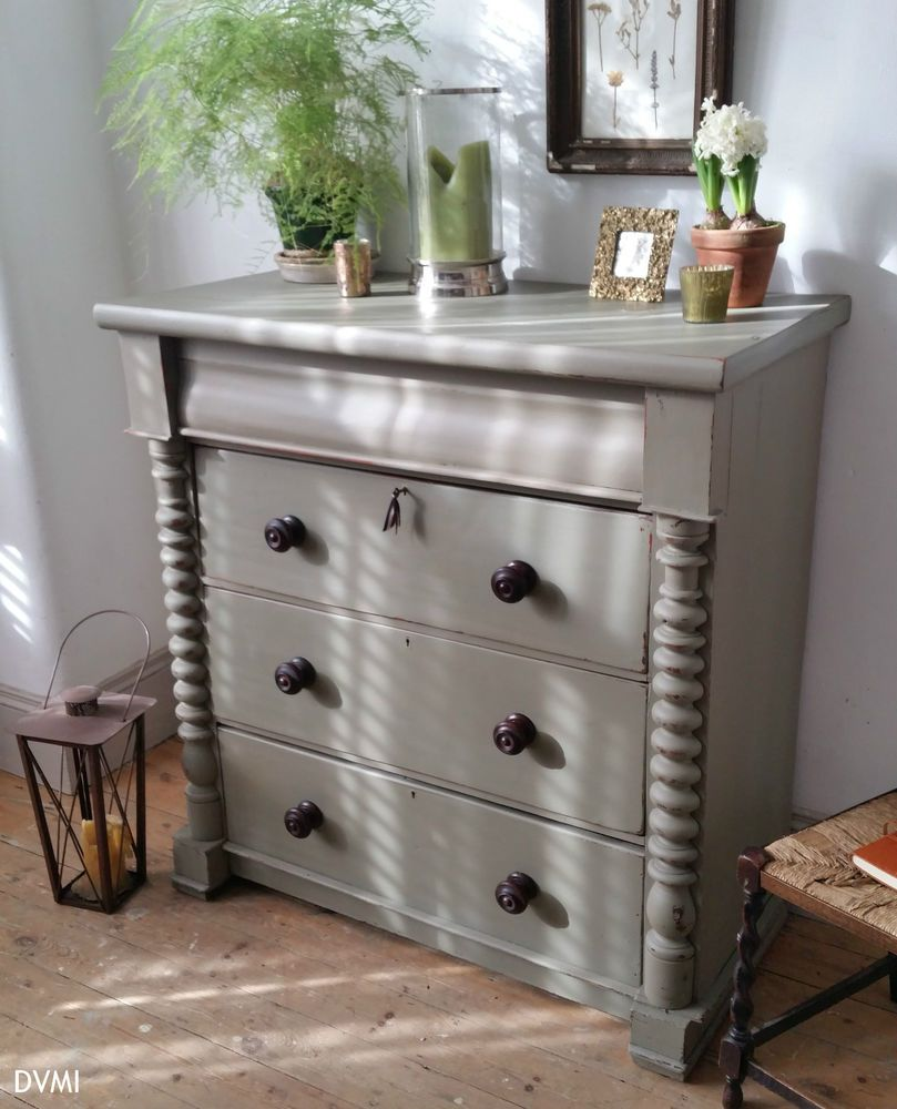 Details About Beautiful Painted Antique Shabby Chic