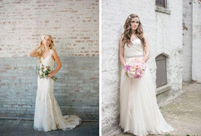 Vestido de noiva com saia em A