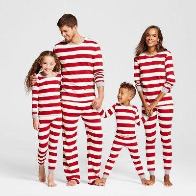 326bfeb750 Burt s Bees Baby Kid s Organic Cotton Striped Pajamas Cranberry XS ...