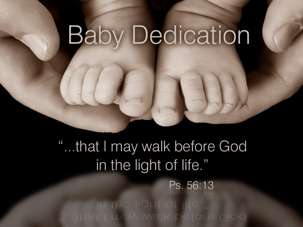 Baby Dedications Are Sacred Services Where Children Are Brought To The  Altar By Their Parents And
