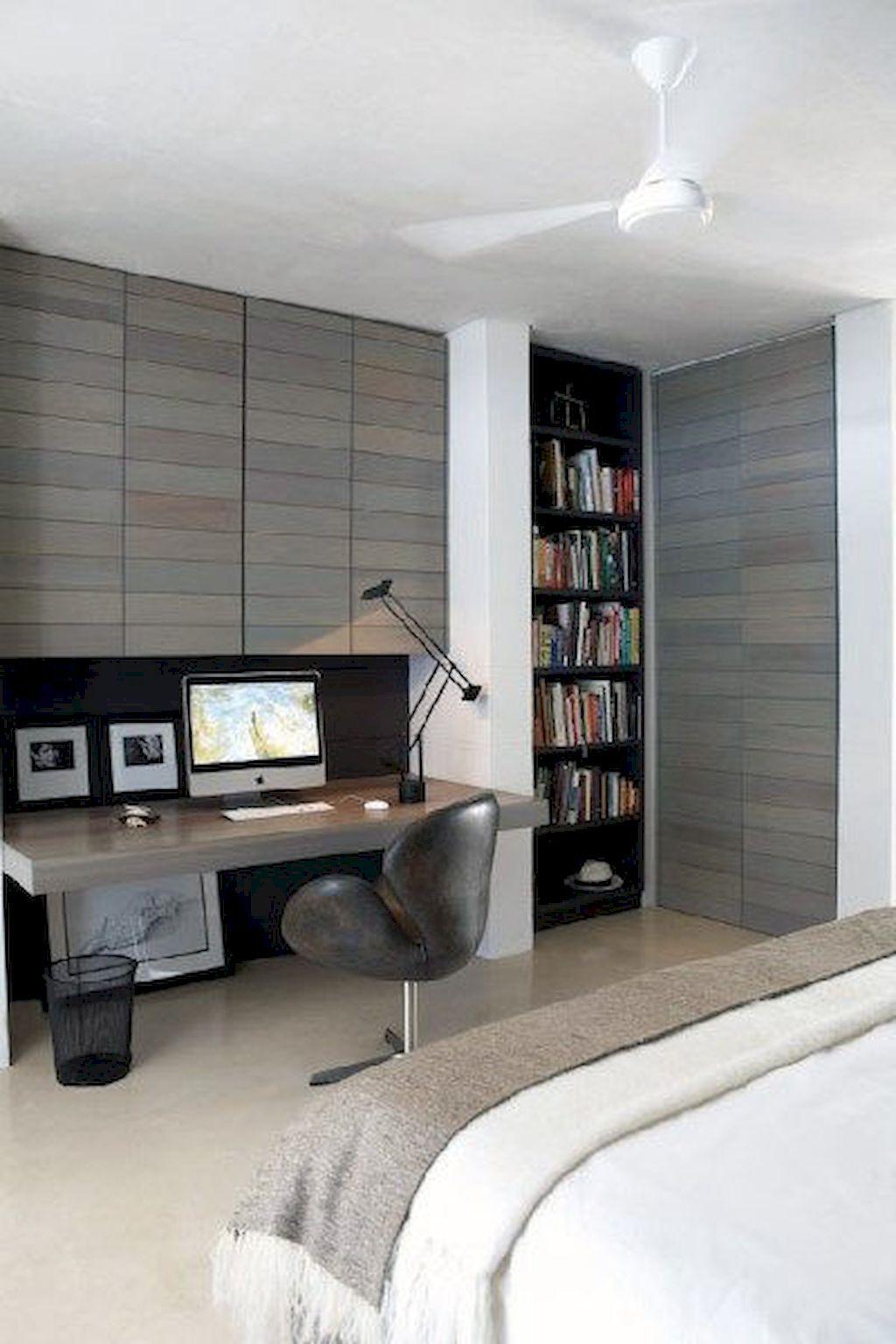 70 Simple Home Office Decor Ideas For Men ...