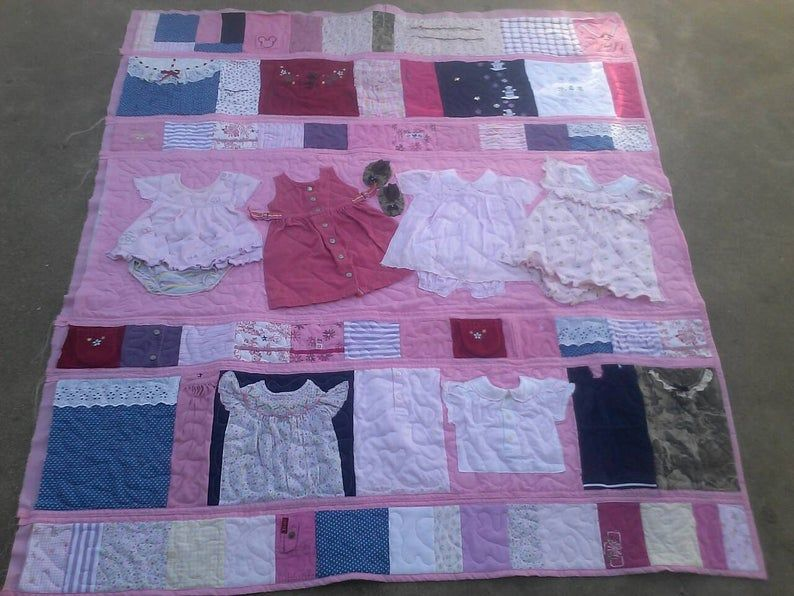 Baby clothes quiltmemory quiltkids quiltboys clothes