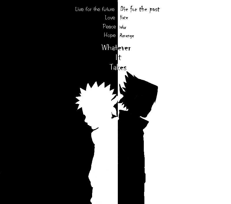 Naruto And Sasuke Opposites By Marowakmaniac14 On Deviantart Naruto And Sasuke Naruto Black And White Background