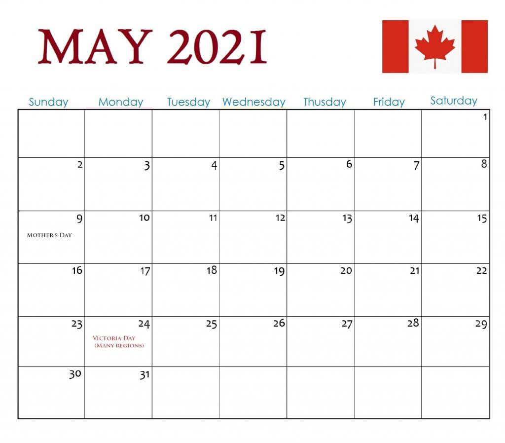 2021 Calendar With Holidays Canada Wallpaper