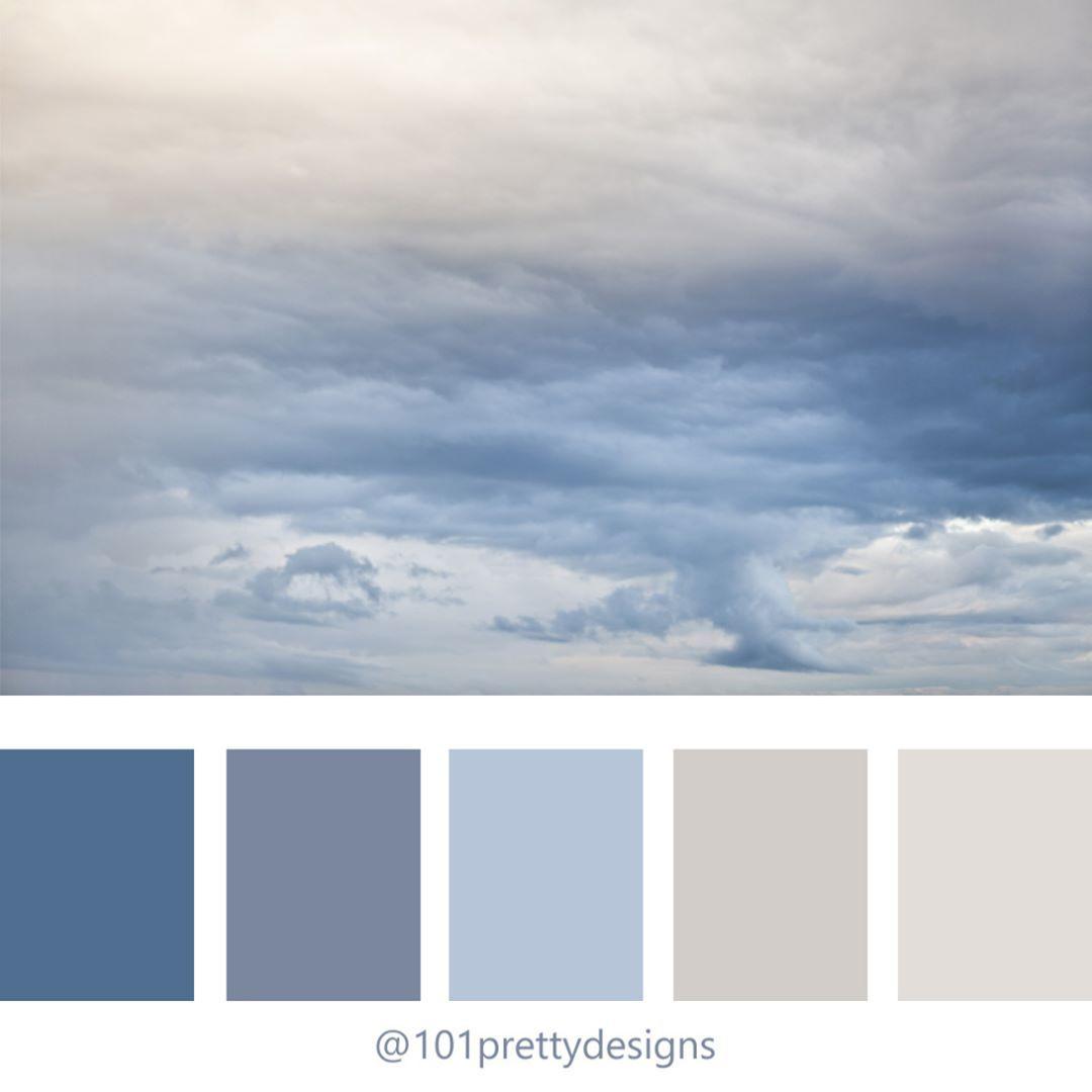 Color Palette Blue Color Palette Sky Clouds Color Scheme Design