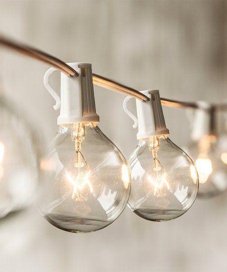 Merkury Innovations White Globe String Light
