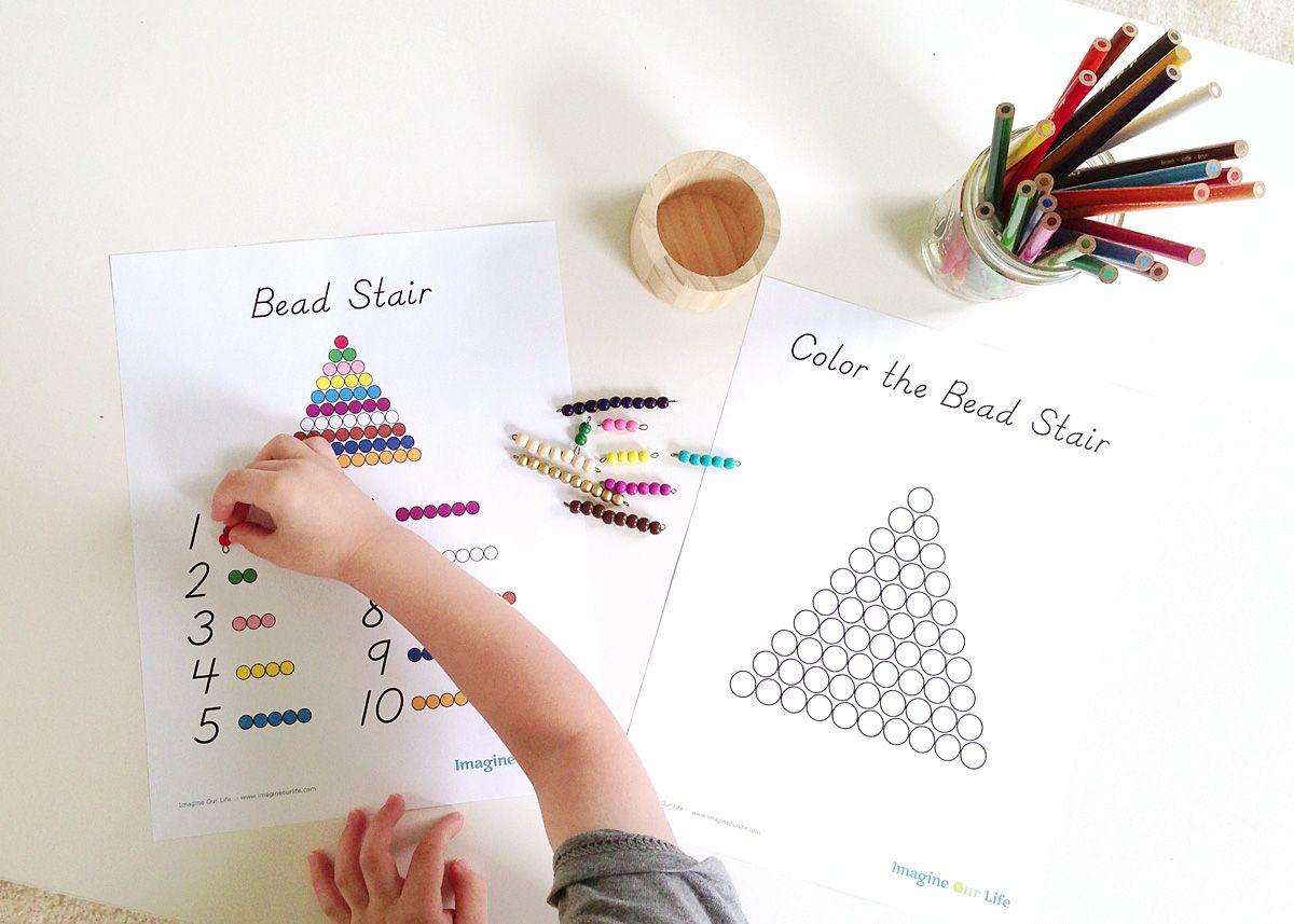 Free Bead Stair Printables
