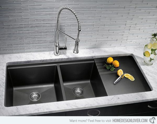 Charmant 15 Functional Double Basin Kitchen Sink