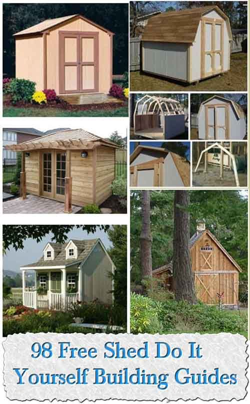 Do It Yourself Home Design: 98 Free Shed Do It Yourself Building Guides