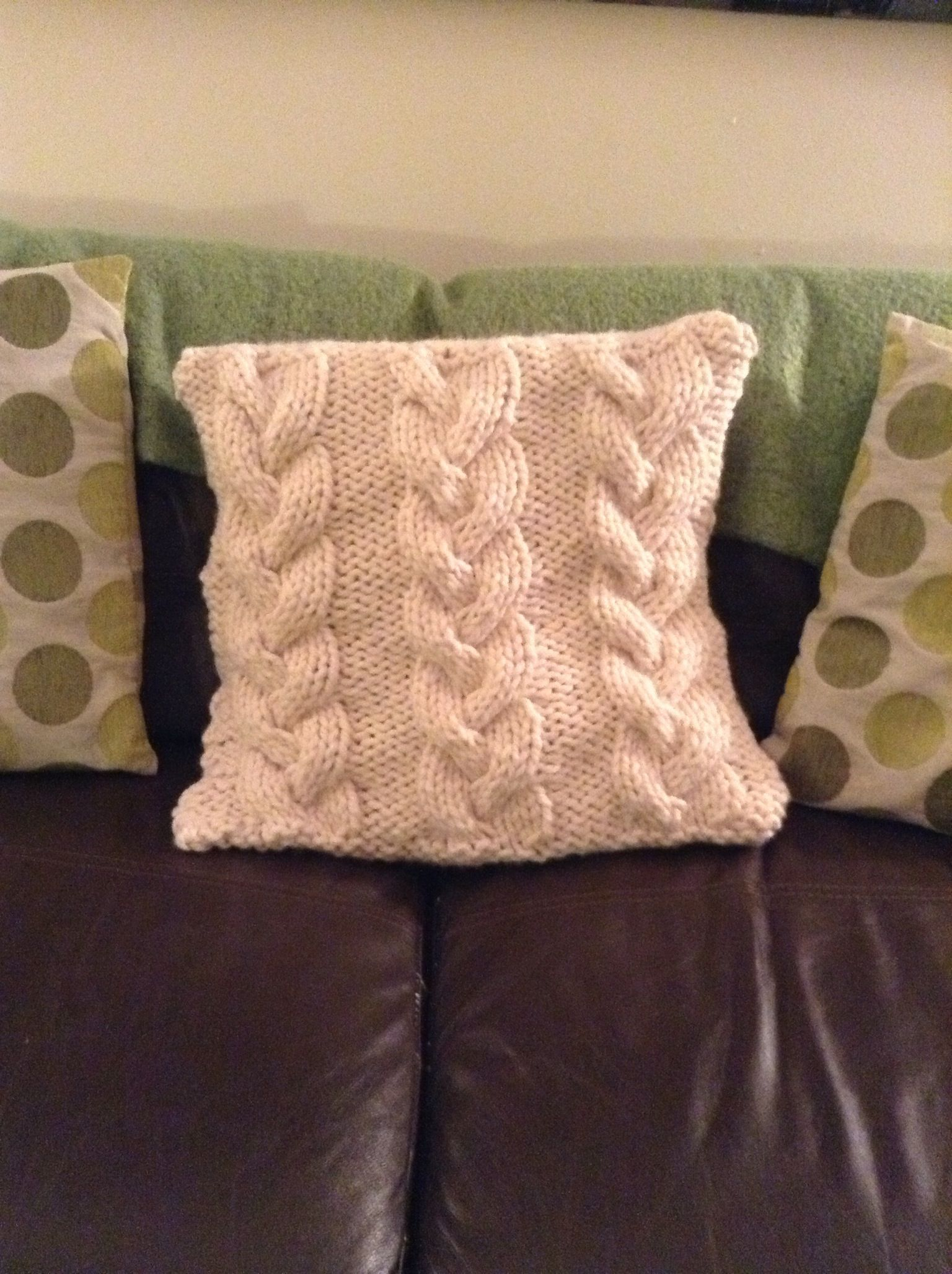 Cable knitted cushion pattern from the gentle art of knitting by cable knitted cushion pattern from the gentle art of knitting by jane brocket bankloansurffo Gallery