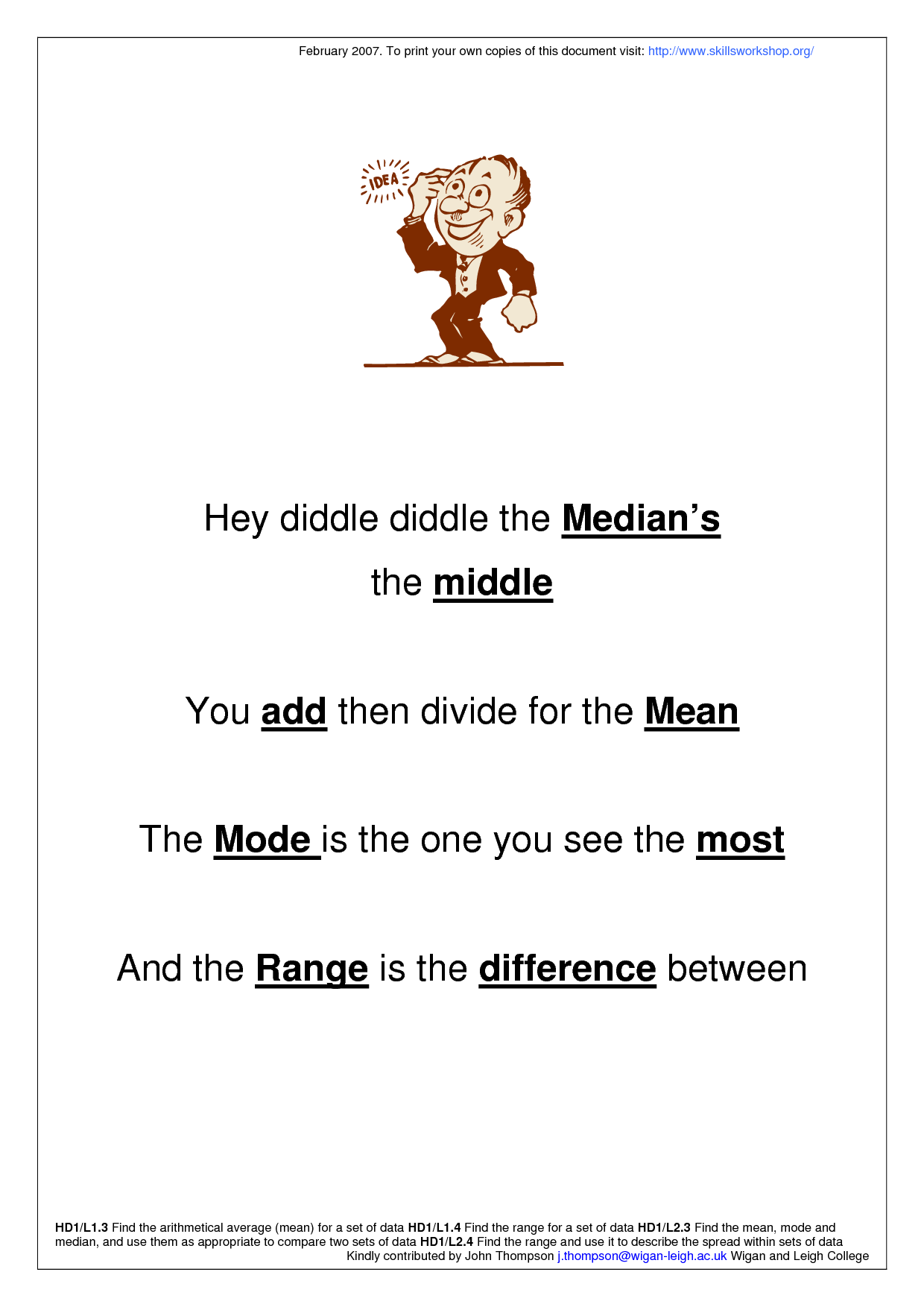 Hey Diddle Diddle The Medians