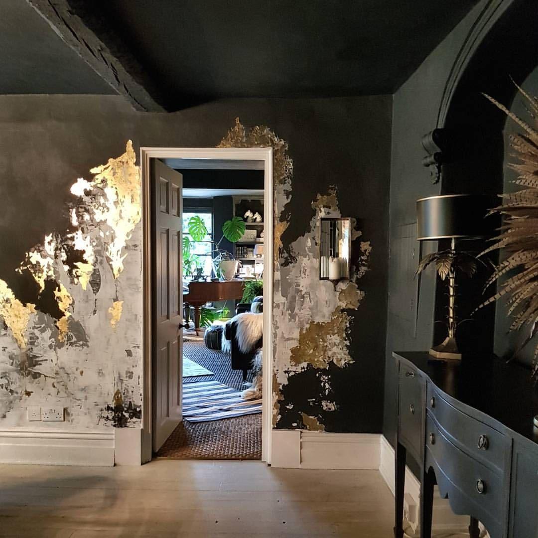 Dark interiors gold leaf walls black walls Hotels of the World